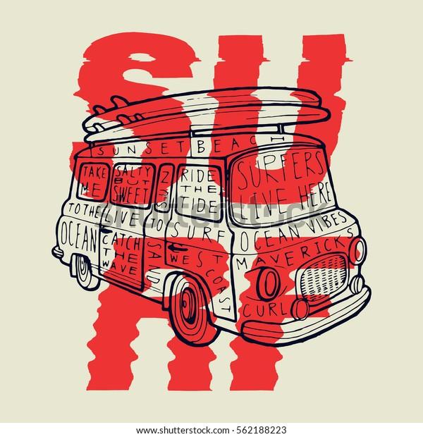 surf-tshirt-design-vintage-van-600w-5621
