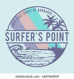 Surf typography, tee shirt graphics, vectors
