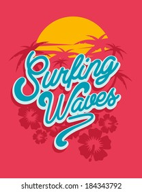 Surf Vector Graphic for apparel - T shirts