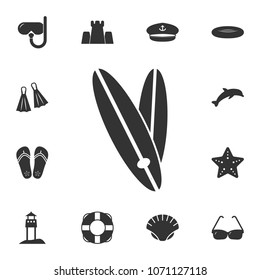 surfboard icon. Detailed set of Summer illustrations. Premium quality graphic design icon. One of the collection icons for websites, web design, mobile app on white background