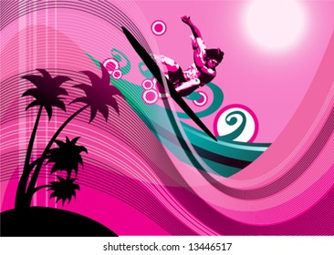 surfer background