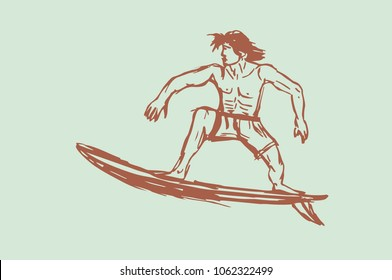 Surfer Boy graphic design vector art