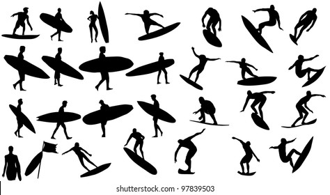 Men With Surf Board Images Stock Photos Vectors