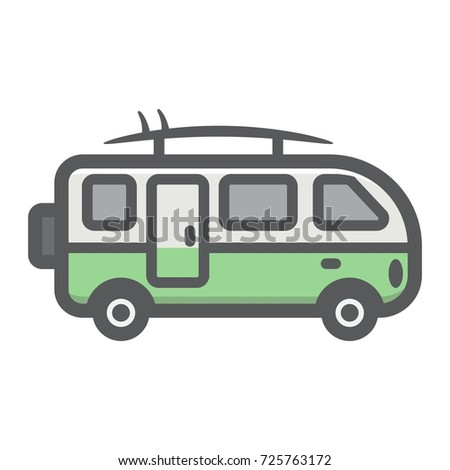 8f8b01fa41 Surfer Van Filled Outline Icon Transport Stock Vector (Royalty Free ...