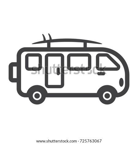 869a2dda23 Surfer Van Line Icon Transport Vehicle Stock Vector (Royalty Free ...