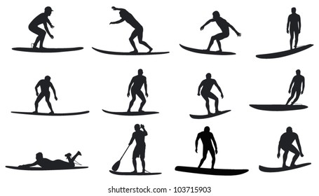 surfers with amazing movements