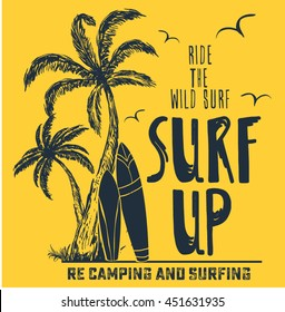 surfing artwork for clothing