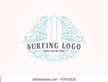 Surfing and Beach Logo Theme