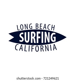Surfing logo and emblems for Surf Club or shop. Vector illustration