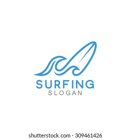 Surfing Logo Template