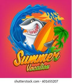 Surfing Shark