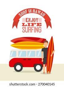 surfing sport design, vector illustration eps10 graphic