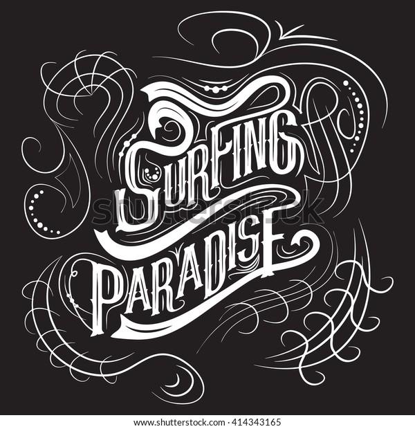 Surfing Tshirt Graphic Design Artwork Apparel Stock Vector