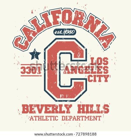 6c02920ae Surfing t-shirt graphic design. California surfers wear stamp. Sport  typography emblem.