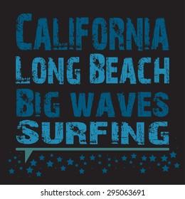 Surfing, Vector illustration