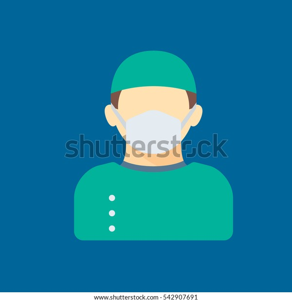 surgeon icon flat disign