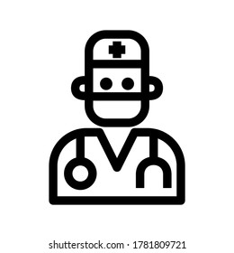 surgeon icon or logo isolated sign symbol vector illustration - high quality black style vector icons