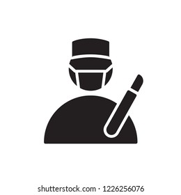 surgeon icon vector. job glyph icon