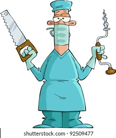 Female Surgeon In Uniform Ready For Operation. Vector Illustration. Royalty  Free Cliparts, Vectors, And Stock Illustration. Image 100900404.