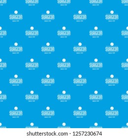 Surgeon pattern vector seamless blue repeat for any use