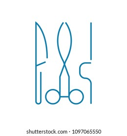 Surgery department linear icon concept. Surgery department line vector sign, symbol, illustration.