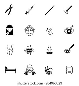 surgery icons set vector illustration For Mobile, Web And Applications
