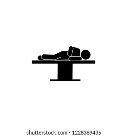 surgery,  lying sideway icon. Element of patient position icon for mobile concept and web apps. Pictogram surgery,  lying sideway icon can be used for web and mobile