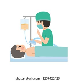 Surgical anesthesia illustration