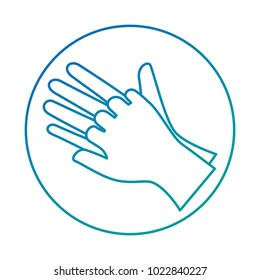 Surgical gloves isolated icon