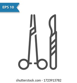 Surgical Instruments Icon. Professional, pixel perfect icon, EPS 10 format.