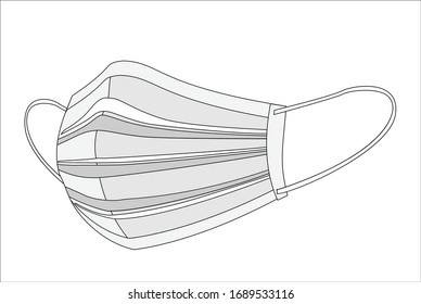 Surgical mask for coronavirus control concepts.