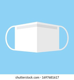 Surgical mask vector icon.Face mask vector icon.