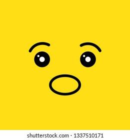 surprise face vector illustration
