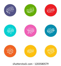 Surprise icons set. Flat set of 9 surprise vector icons for web isolated on white background