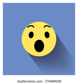 Surprised face icon.Smiley face sign pin icon. Vector illustration surprised icon.