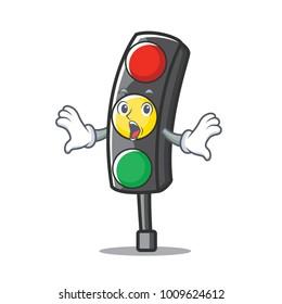 Surprised traffic light character cartoon