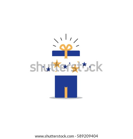 Surprising Gift Opened Present Box Unusual Experience Special Celebration Birthday Party