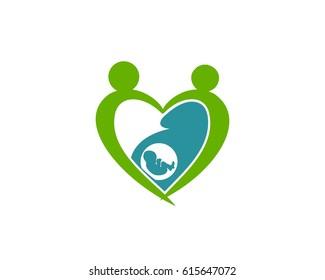 Surrogacy vector logo