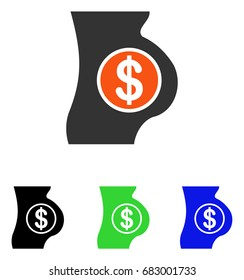 Surrogate Mother vector pictograph. Illustration style is a flat iconic colored symbol with different color versions.