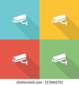 Surveillance Camer a Flat Icon Concept