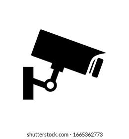 surveillance camera icon vector template