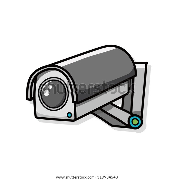 Surveillance cameras doodle