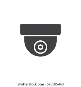 Surveillance dome camera icon vector, filled flat sign, solid pictogram isolated on white. Symbol, logo illustration. Pixel perfect