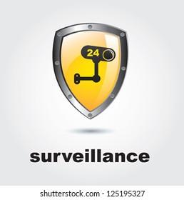 Surveillance icon over white background vector illustration