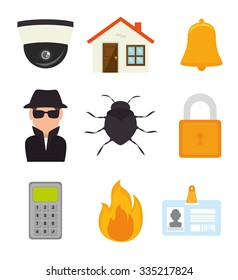 Surveillance security system graphic design, vector illustration eps10