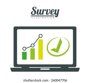 Survey design over white background, vector illustration.