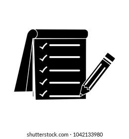 survey icon - vector check list, checklist questionnaire flat clipboard icon