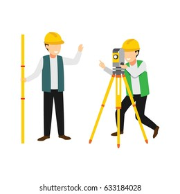 Surveyor character design vector.