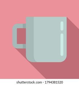 Survival steel mug icon. Flat illustration of survival steel mug vector icon for web design