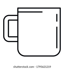 Survival steel mug icon. Outline survival steel mug vector icon for web design isolated on white background